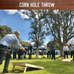 Corn Hole Throw hire