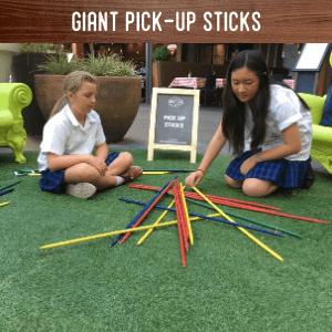 Giant Pick up sticks hire