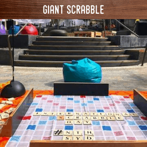Giant Scrabble hire