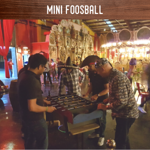 mini foosball hire
