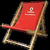 Custom branded deck chair 1